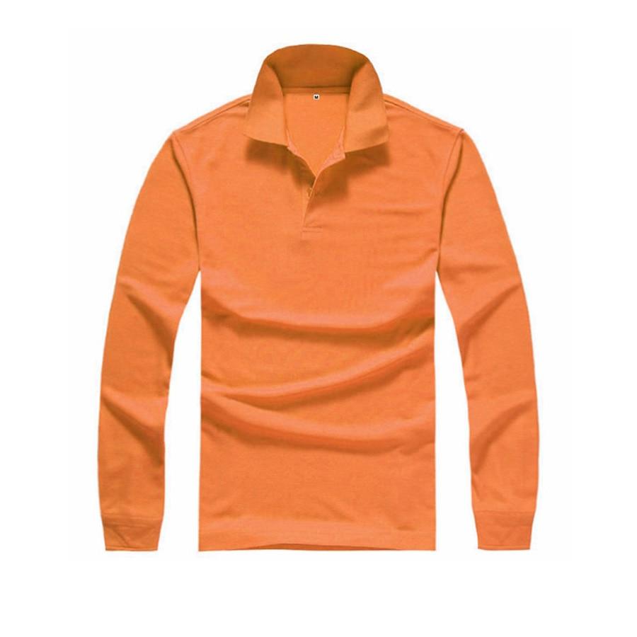 Desain t shirt kerah - Desain Baru Kemeja Pria Polo Penuh Lengan Kemeja Polo Solid Ramping Berdiri Kerah Pakaian