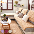 4 colors Fleece Sofa Cover for Winter Warm Flannel Sofa Towel Slip-Resistant L Shape Anti-Mite Slipcover Couch Cover