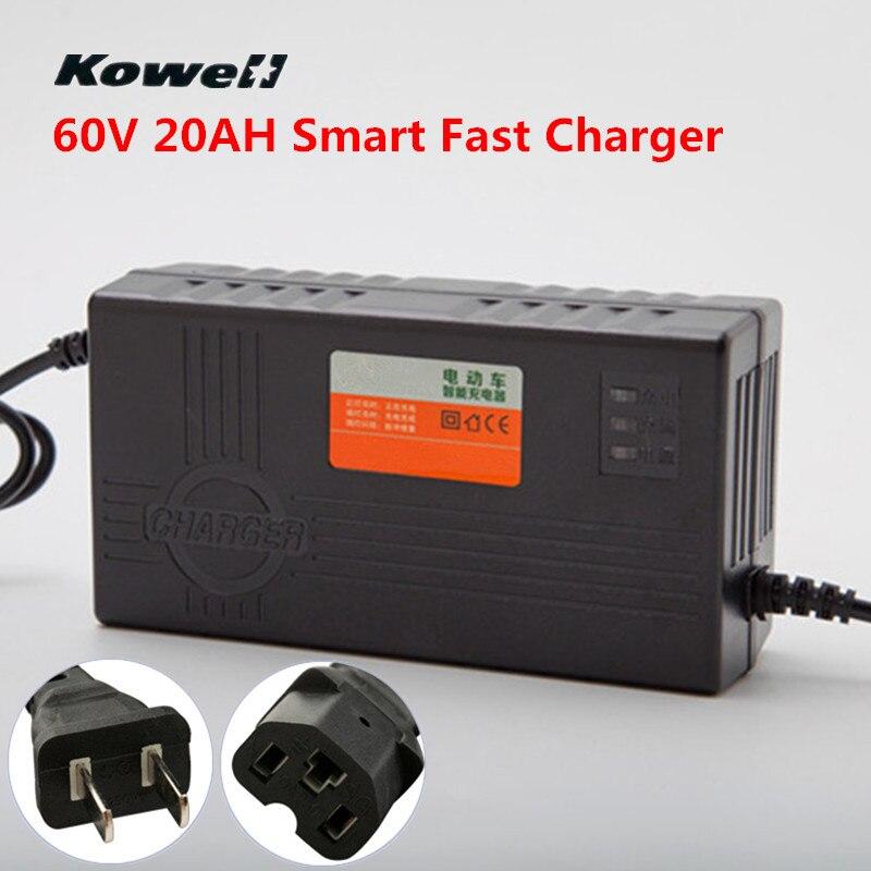 60 V 20AH AC 180-240 V 2.5A Smart Schnelles Aufladen Intelligente Autobatterie-ladegerät Für Elektroroller Schnelle ladegerät Auto Motorrad