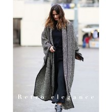 EXCOSMIC Runway Women Long Sleeve Designer Elegant Asymmetric Length Blazers Pine grey windbreaker coat