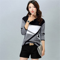 Free Shipping Women'S Casual O Neck Cashmere Pullover Spring /Autumn /Winter Women Sweater Plus Size Bottoming Shirt Lz836