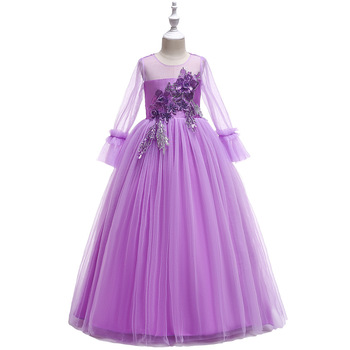 2019 New First Communion Dresses For Girls Wine Red Long Girls Pageant Gowns Vestidos Daminha Flower Girl Dresses For Weddings 2018 flower girl dresses for weddings first communion dresses for girls tulle a line girls pageant dresses cute