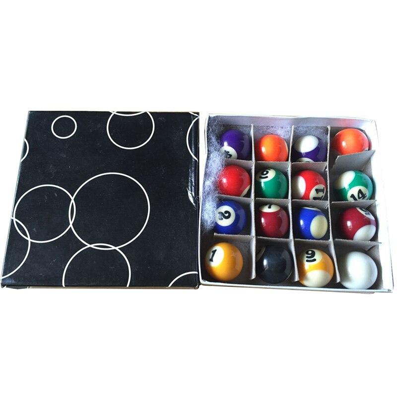 Complete Set van 16 Miniatuur Mini Pool Biljart Ballen 25mm Diameter Snooker Biljart Ballen