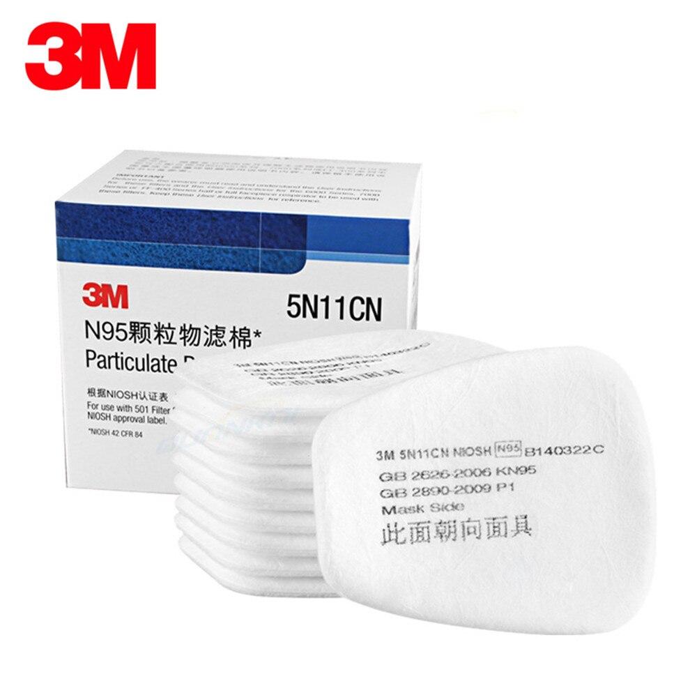 10-pcs-3-m-5N11-Filtre-coton-Masques-Gaz-N95-Particules-Salle-De-Peinture-Industry-Labor