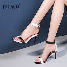 Women Sandals 2019 Fashion Summer Shoes Mixed Colors High Heel Sandals Office Heels Women egonery summer 2018 new fashion ladies sandals heel height 6 5 cm genuine leather mixed colors concise casual high heel shoes