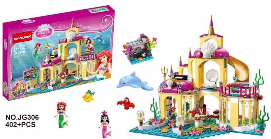 Happywill-Gift-bag-stickers-New-402pcs-JG306-Princess-Undersea-Palace-Girl-Building-Blocks-Bricks-Toys-For-Children-Christmas-2