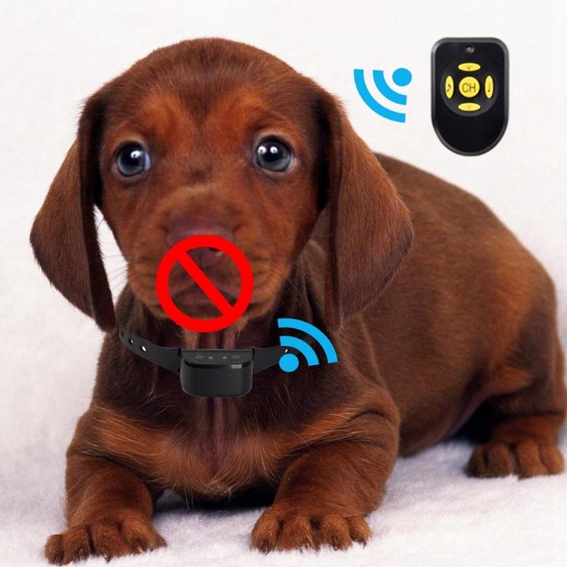 Ошейник для обучения собак, перезаряжаемый спрей ошейник, анти лающий водонепроницаемый сейф и автоматическое лающее устройство для собак, звуковая сигнализация