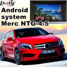 Android 6.0 GPS caixa de navegação para Mercedes benz A classe W176 NTG 4.5 com interface de vídeo caixa de ligação espelho quad core HD vídeo