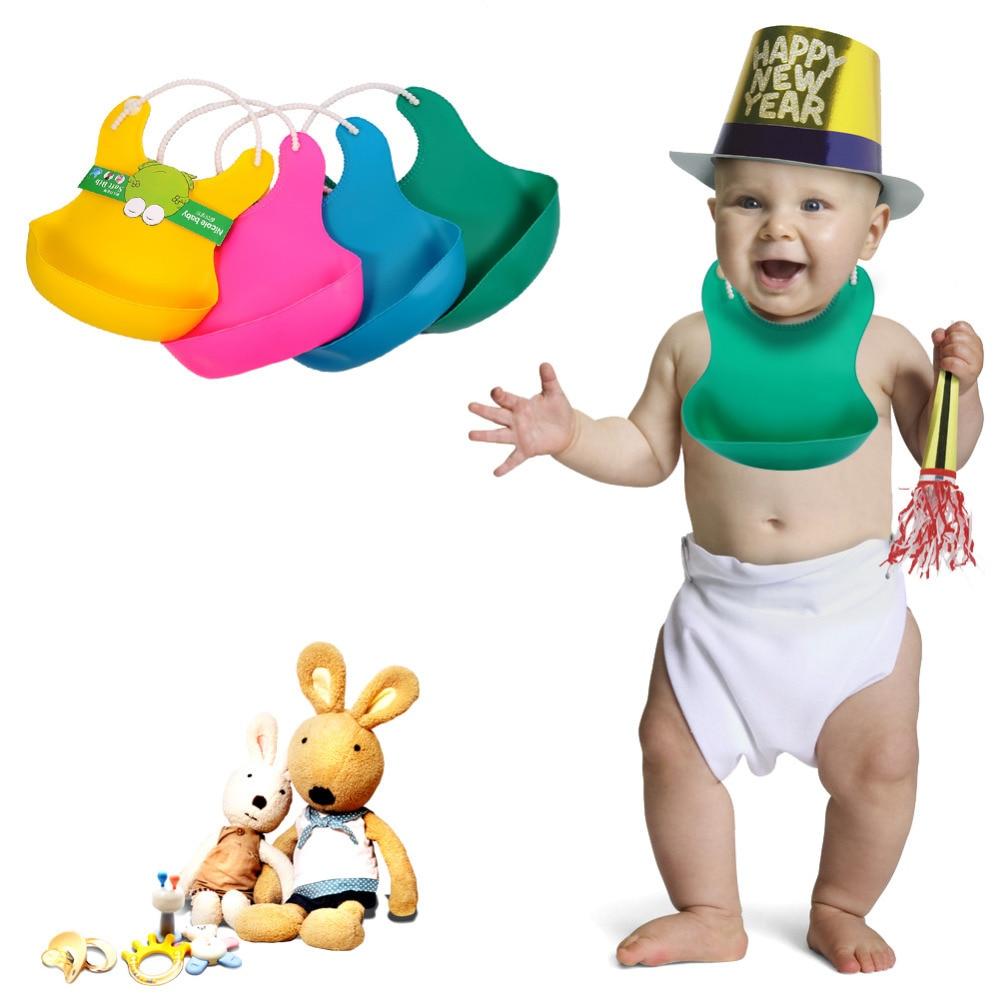 Lovely Baby Infants Lunch Bibs Waterproof Silicone Bandana Bibs Adjustable Baby Bibs Hot