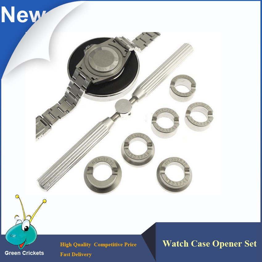 Free Shipping 5537 Multi Function 6 Types Watch Case Opener Set 18 5 29 5mm Watch