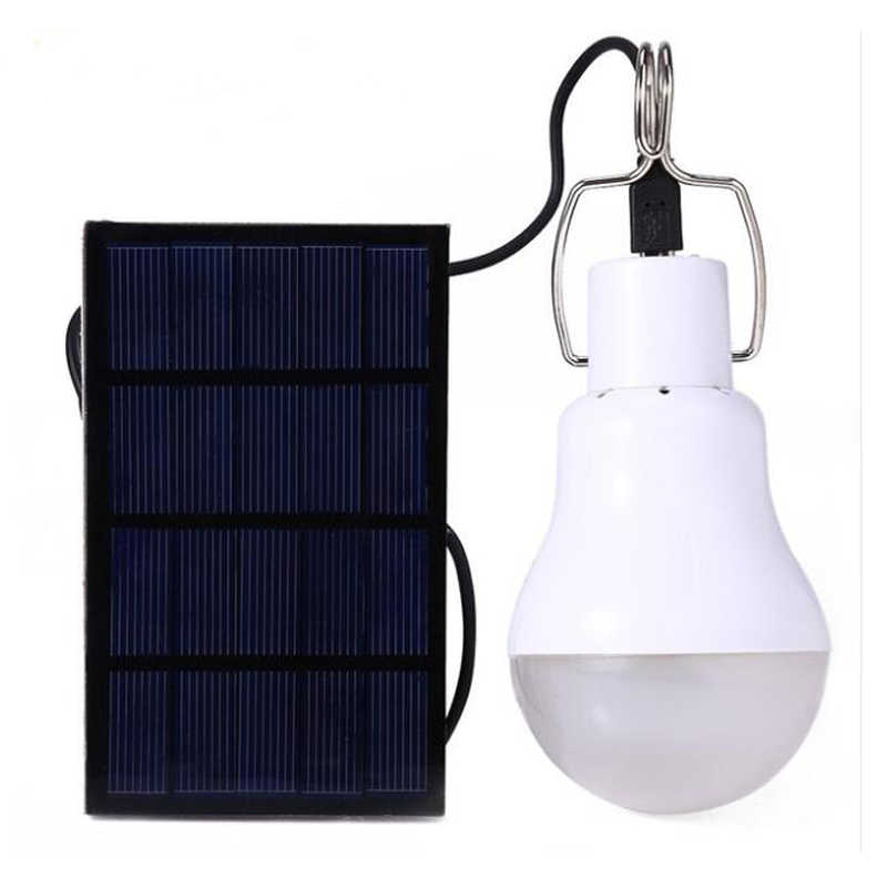 Solar Powered LED Lampe Outdoor Solar Energie Camping lampe LED solar panel glühbirne, outdoor Solar Zelt Camping Licht Lampe