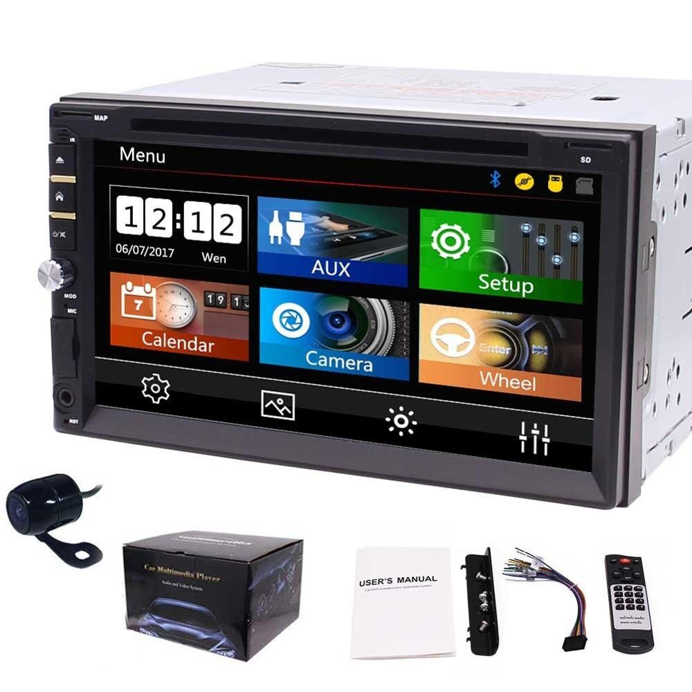 EinCar 7 inch Multimedia Car Stereo Receiver with autoradio Bluetooth CD/DVD Player USB/SD 2 din Headunit with Backup Camera professional 6 2 inch 6201a audio dvd sb sd bluetooth 2 din car cd player with automatic memory play car dvd player