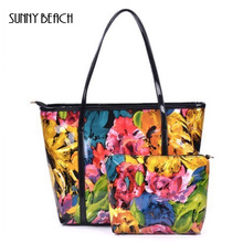 REAL PHOTO 2015 new arrival design fashion candy color Composite Bag waterproof beach bags leisure bags