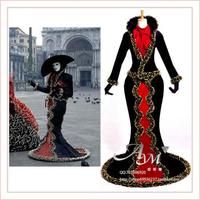 Venice Carnival Dress Italy Venice Traditional Jacket Medieval Gown Cosplay Costume Custom Made[G704]