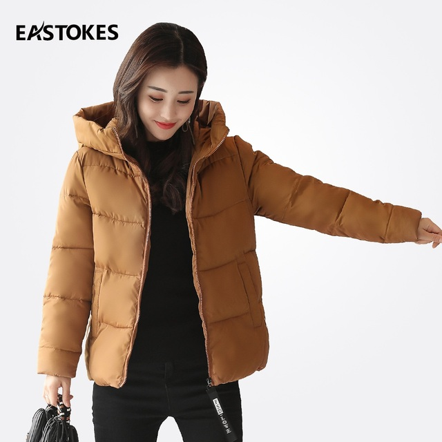Women Short Coats Winter Women Jackets Ladies Solid Colour ...