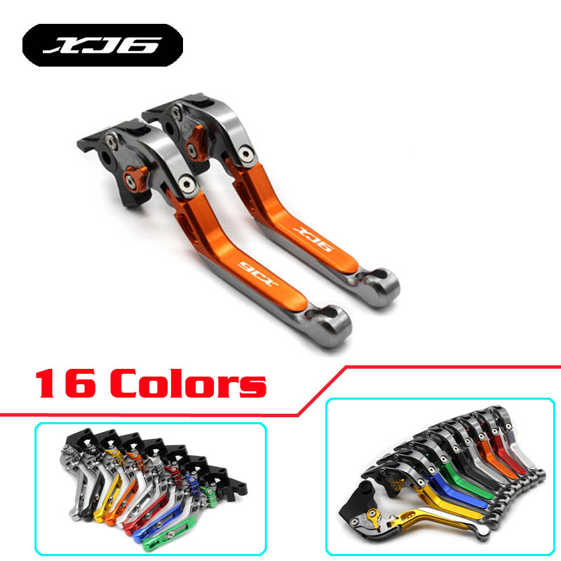 Logo XJ6 Foldable Brake Clutch Levers For YAMAHA XJ6 DIVERSION 2009 2010 2011 2012 2013 2014 2015 Motorcycle accessories