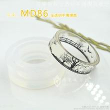 56/58/60/62/64mm Inner Diameter Transparent Silicone Round Bracelet Mould For Resin Real Flower DIY Mold Bangle MD86