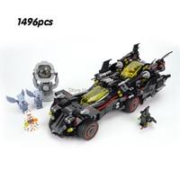 compatible Legoinglys DC Comics Super Heroes Batman Movie The Ultimate Batmobile 1496pcs Set Building Blocks Bricks Toys Gift