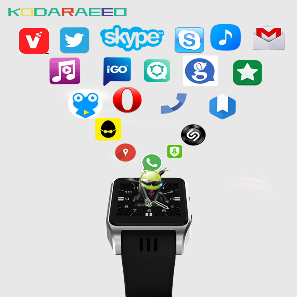 X86 Smart Watch Bluetooth Wifi support 3G/4G SIM card X01 android OS Smartwatch with camera Whatsapp Facebook For iOS Android