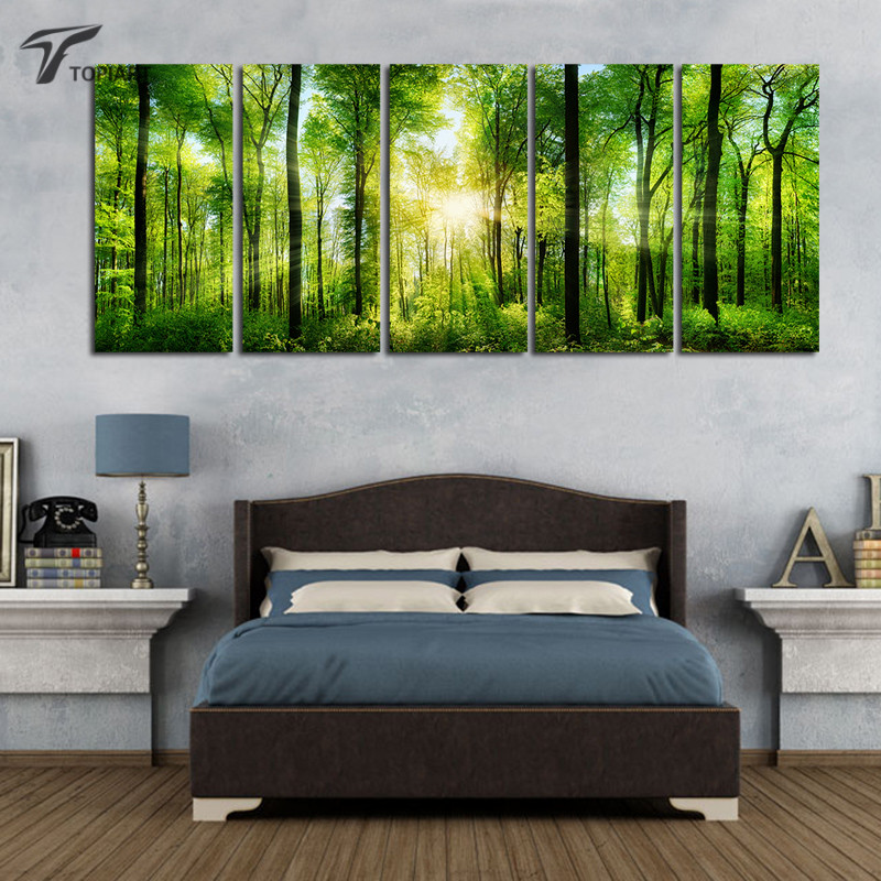 Online buy wholesale sunlight pictures from china sunlight for 5 piece mural