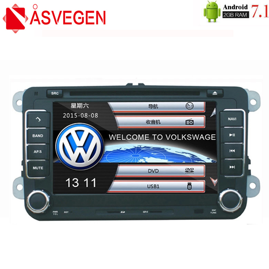 Asvegen 7'' Car Autoradio <font><b>2</b></font> <font><b>Din</b></font> Radio Multimedia DVD Player For <font><b>VW</b></font>/<font><b>Golf</b></font>/<font><b>6</b></font>/<font><b>Golf</b></font>/5/Passat/b7/cc/b6/SEAT/leon/Tiguan/Skoda/Octavia image