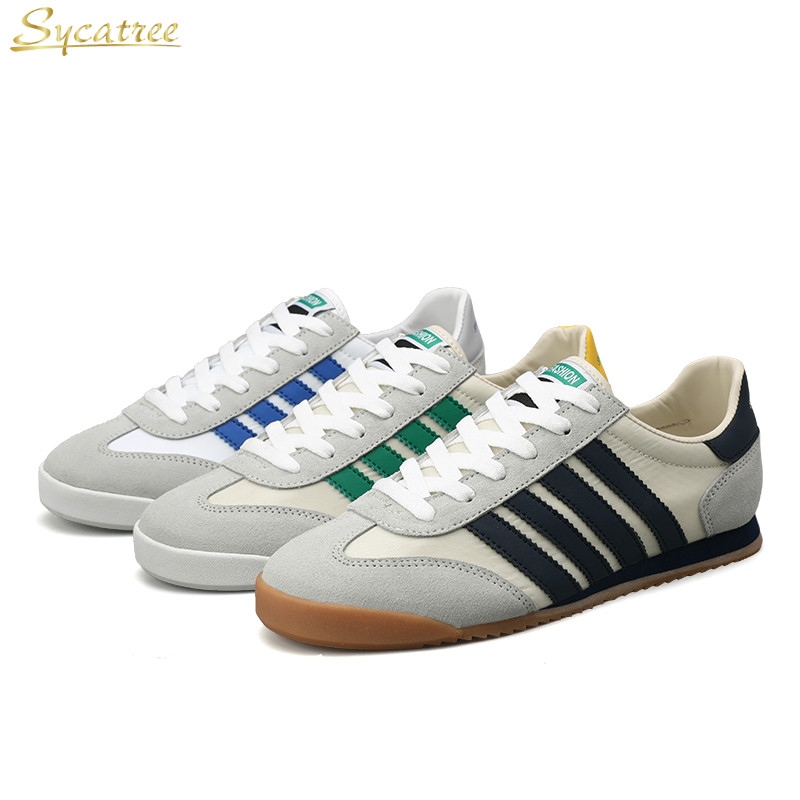 Juyouki 2019 New Casual Shoes for Men Genuine   Leather   Shoes Four Bars Breathable Summer Flats Sport   Suede   Shoes Chaussure Homme