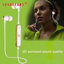 S6 Sports Wireless Bluetooth Earphones Fone De Ouvido Stereo Bluetooth Headset Earbuds Sweatproof for Jog Gym LJ-MILLKEY LZ001
