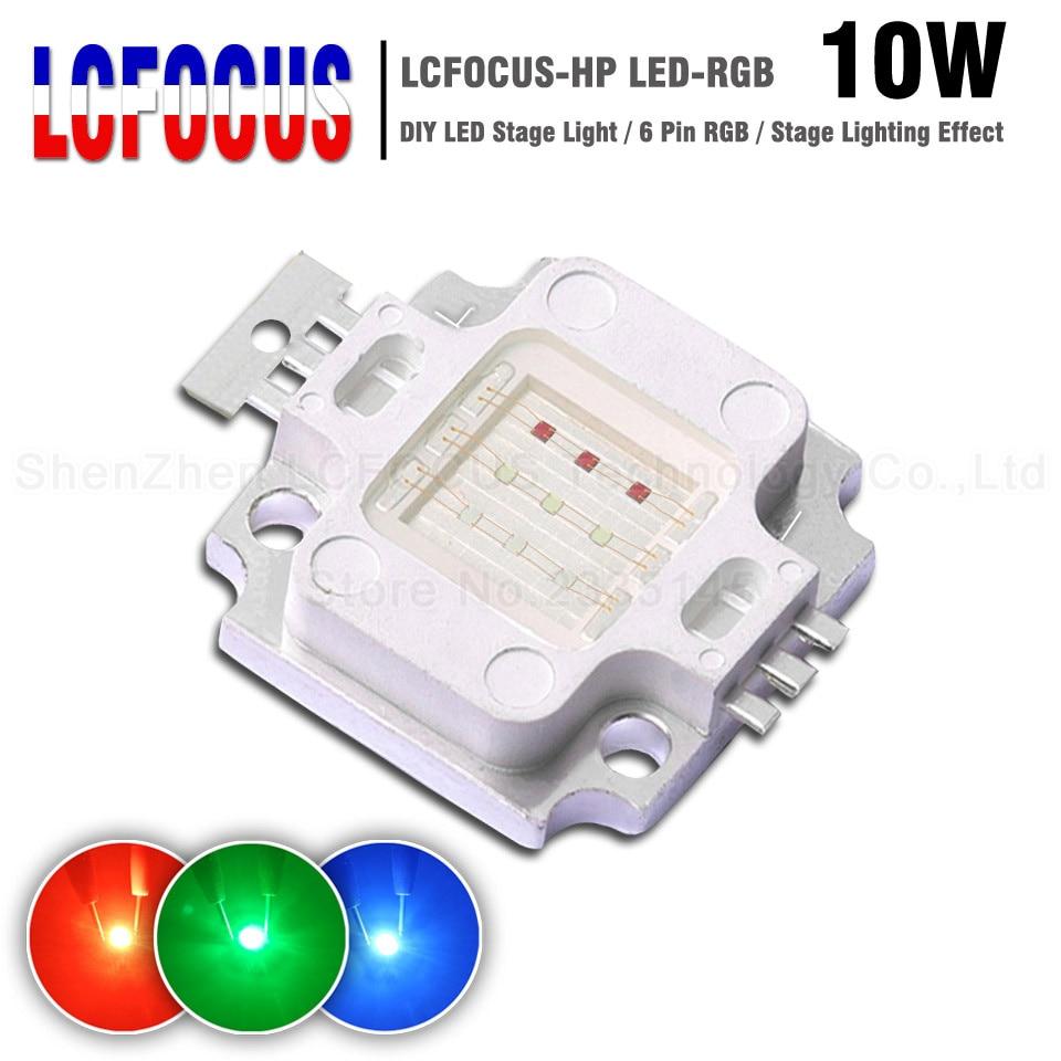 High Power LED Chip 10W COB Light Beads 10 W Watt RGB Red Green Blue SMD Diode For Stage Light Floodlight Spotlight Lawn Bulb