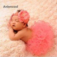 Anlencool 2 pz set baby girl dress infantile 1st birthday partito outfit pagliaccetto pannello esterno della bolla della fascia bebe newborn baby dress set