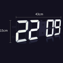 hot deal buy led electronic wall clock creative bluetooth audio wall watch living room decoration hogar saat home decoration accessories b76
