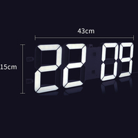 Led Electronic Wall Clock Creative Remote Control Wall Watch Living Room Decoration Hogar Saat Home Decoration Accessories B76