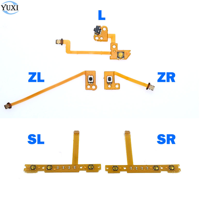 YuXi SL SR ZL ZR L Button Ribbon Flex Cable For Nintend NS Switch Joy-Con L R Button Key / Stick Cap Skin For Joy-Con Controller