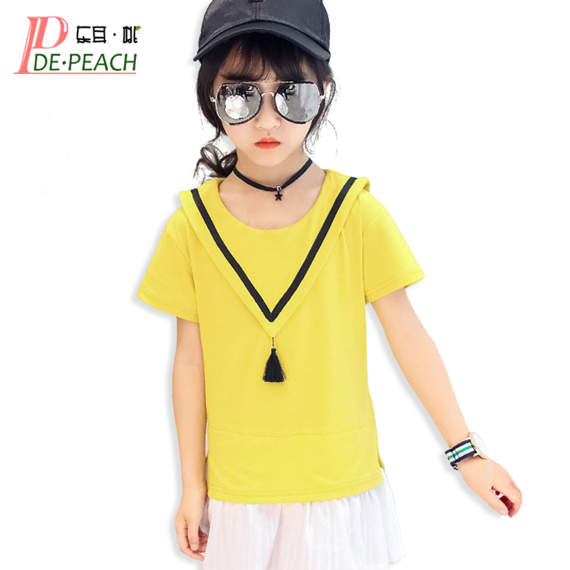 Girls Mini Dress Children Tennis Dresses Long Sleeve font b vestido b font Summer Cotton Fashion