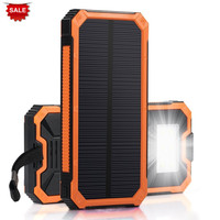 PowerGreen Keychain Mini Power Bank 15000mAh Festival Gift Solar Cell Charger Solar Battery Bank for Mobile Phone