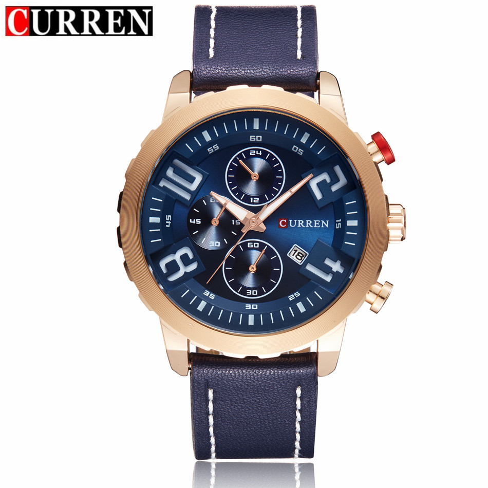 Curren watches men brand luxury gold quartz watch 2017 men 39 s fashion casual sport clock for Curren watches