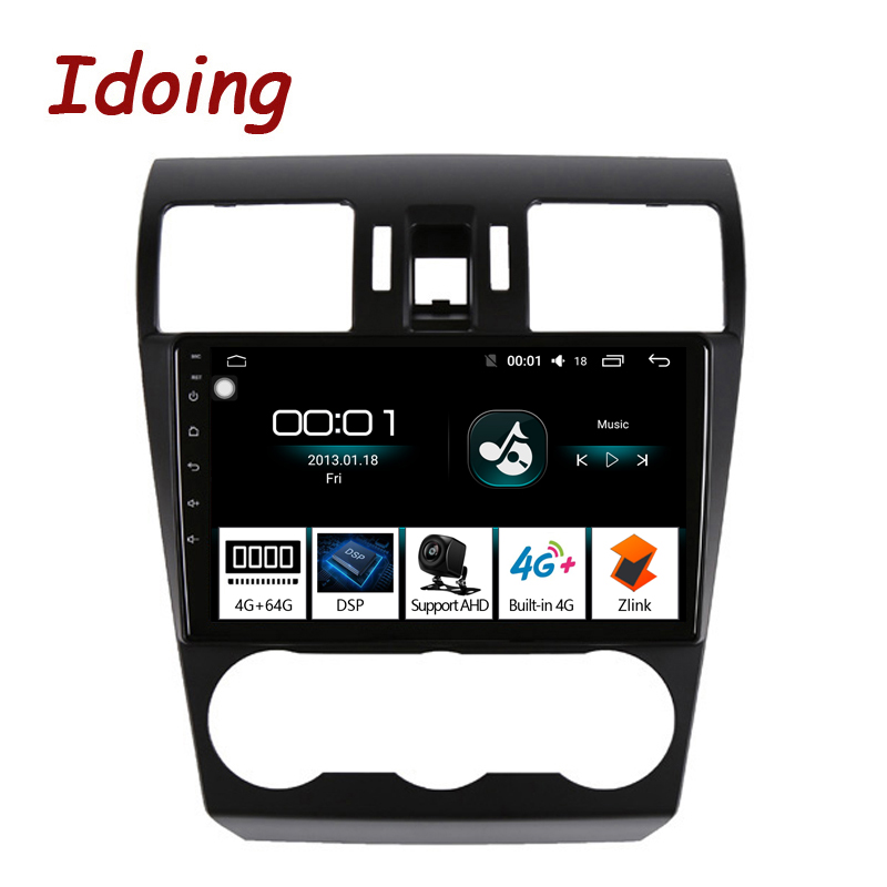 Idoing 9Car Android 8.1 Radio GPS Multimedia Player For Subaru Forester XV WRX 2013-2015 4G+64G 8 Core Navigation no 2 din dvd