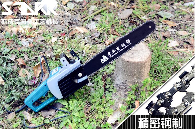 Promotion sale 1set Professional home garden woodworking saws electric chain saw logging saws Copper motor power 2200w 16