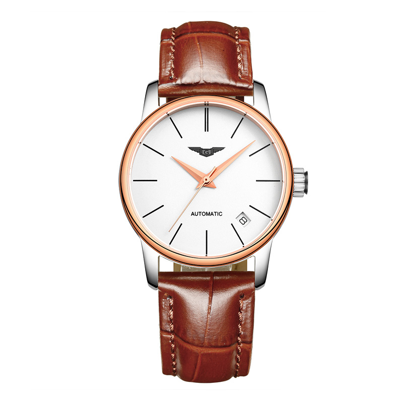 GUANQIN GJ16032 watch women luxury brand Japan MIYOTA Waterproof Leather Watchbands Ultra-thin Fashion Relogio guanqin gj16056 watch women luxury brand japan miyota mechanical watch leather automatic ultra thin watch female watch couple