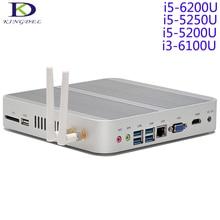 Newest Skylake NUC,Mini PC,Fanless Desktop Computer,Barebone,Core i5 6200U/5250U/5200U/i3-6100U,HTPC,Gigabit LAN,Wifi,HDMI&VGA