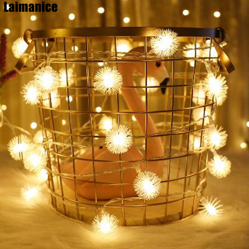 100/200/300/400 Led Snowball Flakes LED String Fairy Christmas Lights  Holiday Lighting Wedding Party Home Decoration 110V 220V - 100/200/300/400 Led Snowball Flakes LED String Fairy Christmas