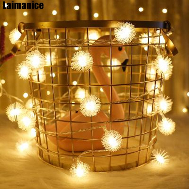 100/200/300/400 Led Snowball Flakes LED String Fairy Christmas ...