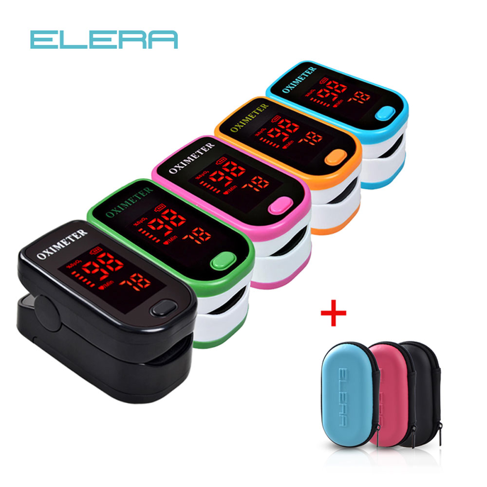 Case Pulse-Oximeter Finger Saturator Oximetro-De-Pulso-De-Dedo New With LED