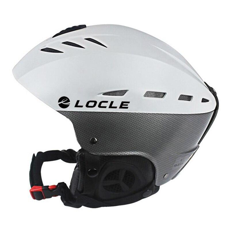 LOCLE CE 認証スキーヘルメット通気性超軽量スキーヘルメット Abs 外雪スキースノーボードスケートボードヘルメット M/L サイズ  グループ上の スポーツ & エンターテイメント からの スキー ヘルメット の中 1