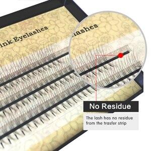 Image 4 - NAGARAKU pestañas postizas individuales, pestañas voluminosas, 10 cajas, lote de 0,07c 2D 6D hechas a mano, pestañas naturales de alta calidad, abanicos prefabricadas