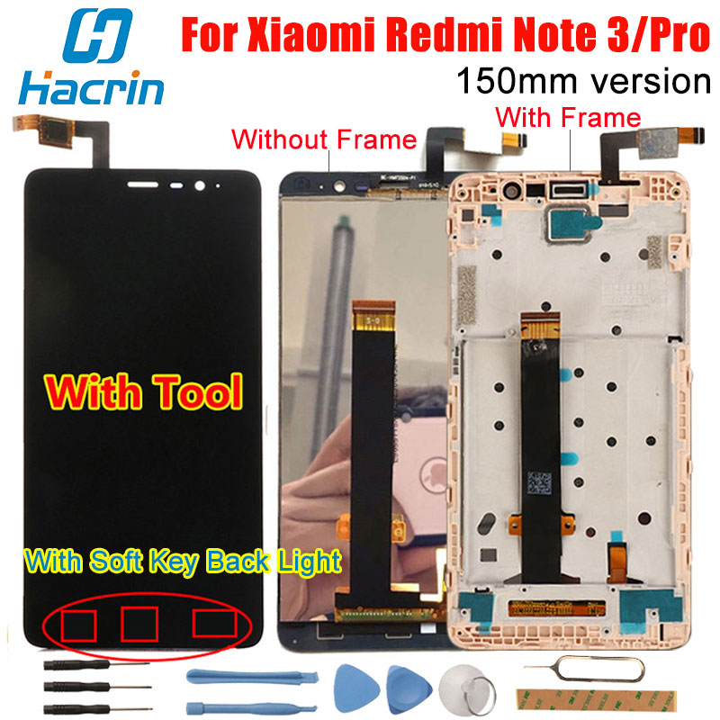 Xiaomi Redmi Note 3 Touch Screen LCD Display +Touch Panel Digitizer Accessory Panel For Xiaomi Redmi Note 3 Pro Prime 150mm 5.5'