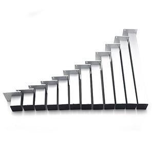 "Image 3 - 4 יחידות 5 ס""מ רגליים ארון אלומיניום שולחן ריהוט מתכת מרובעות רגליים בסיס מעמד עם ברגים"