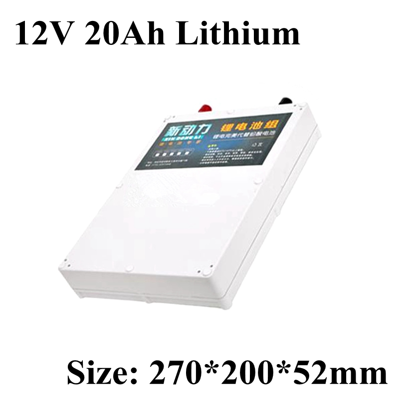 Li-ion battery pack 12V 20Ah lithium battery waterproof power bank for Hernia lights Inverter electric bike ebike sea motorboat