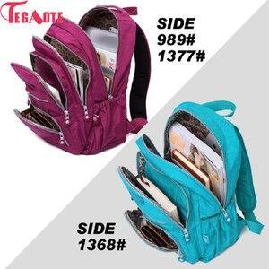 Image 5 - Tegaote 십대 소녀를위한 학교 배낭 mochila feminina 여성 배낭 나일론 방수 캐주얼 노트북 bagpack 여성 sac a do