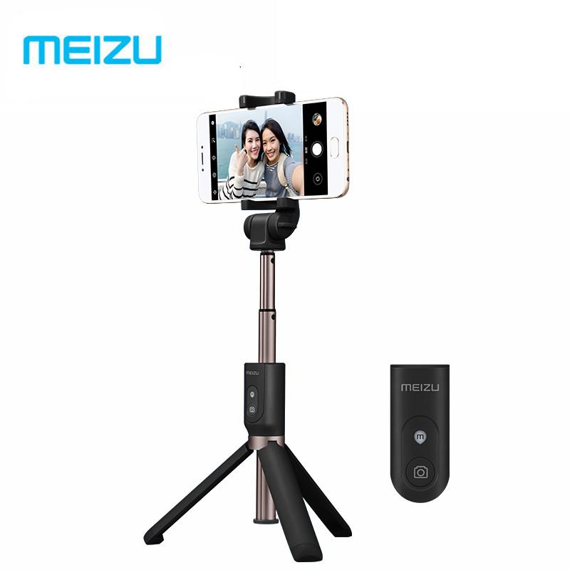 Prix pour D'origine Meizu Pliable De Poche Trépied Manfrotto Selfie Bâton Intelligent Sans Fil Bluetooth Obturation Selfie Bâton Pour Android et iPhone