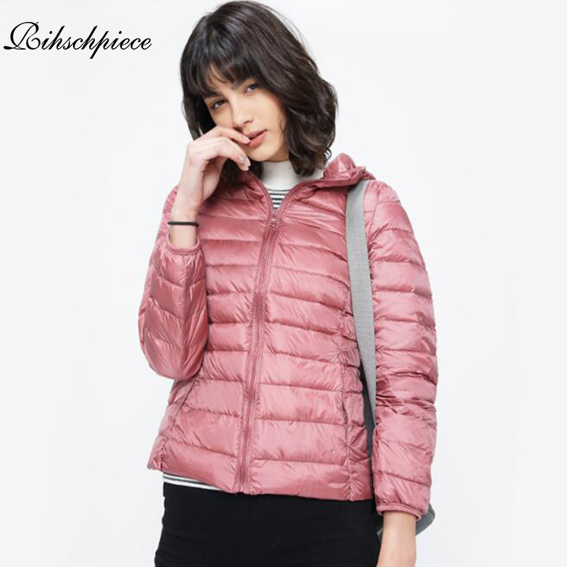 Rihschpiece 2018 Winter Plus Size 3XL Jacket Women Coat Hoodies   Parka   Jackets Padded Jacket Coat Thin Clothes RZF1277